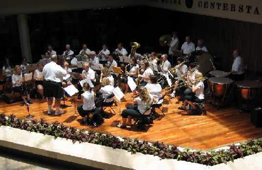 Stockton Concert Band in Hawaii 2005